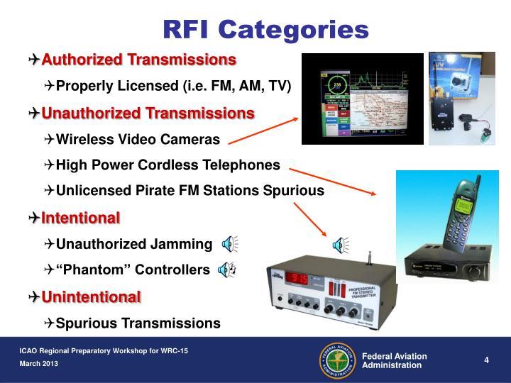 RFI Categories