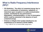 what is radio frequency interference rfi