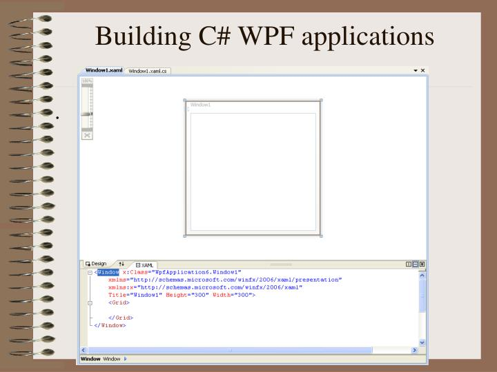 Building C# WPF applications