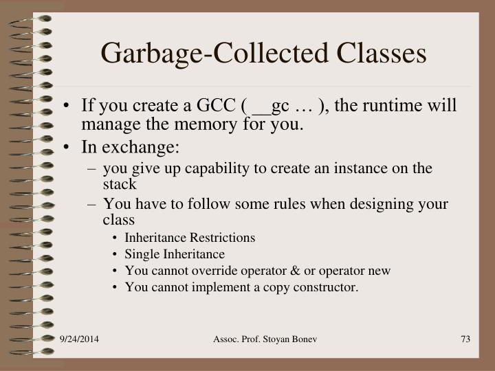 Garbage-Collected Classes
