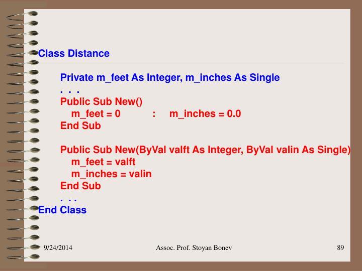 Class Distance