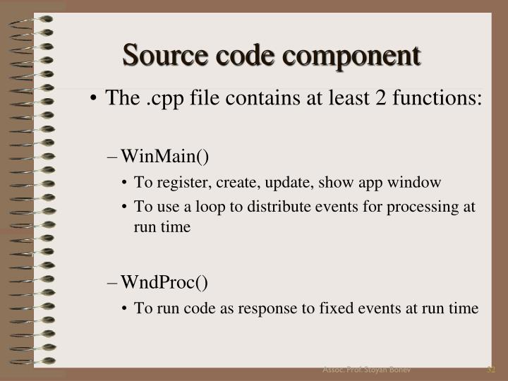 Source code component