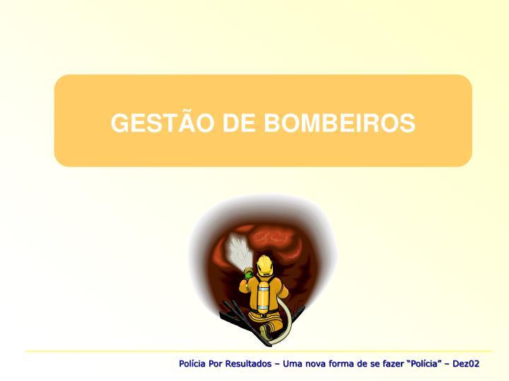 GESTÃO DE BOMBEIROS