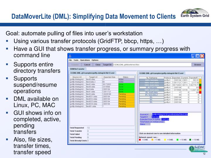 DataMoverLite (DML): Simplifying Data Movement to Clients