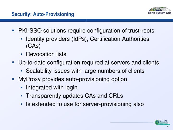 Security: Auto-Provisioning