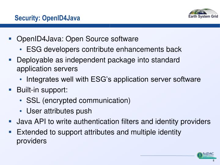 Security: OpenID4Java