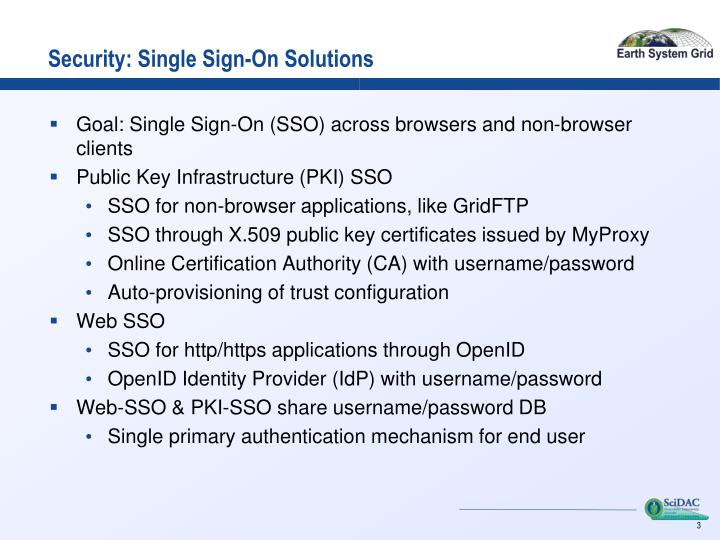 Security: Single Sign-On Solutions