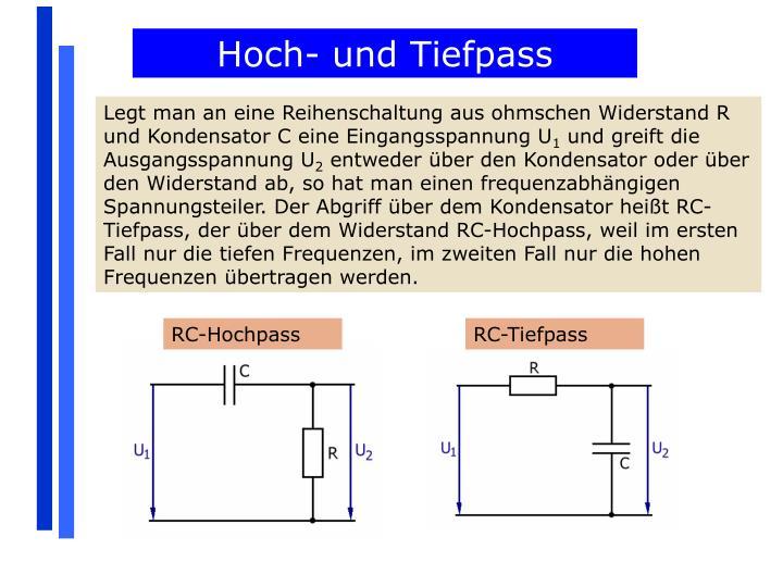 Hoch- und Tiefpass