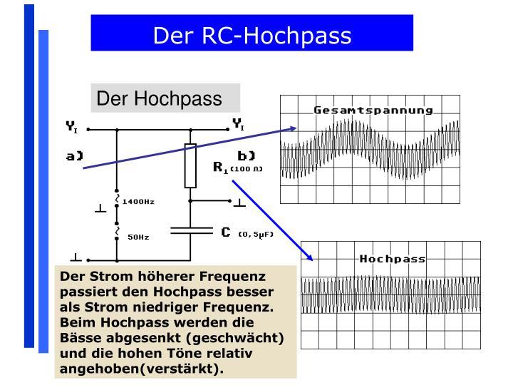 Der RC-Hochpass