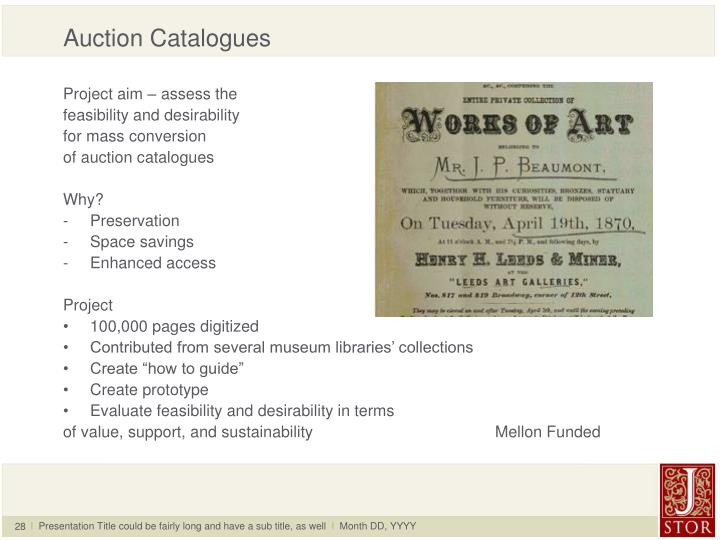 Auction Catalogues