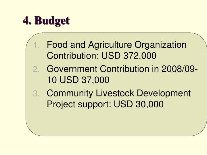 4. Budget