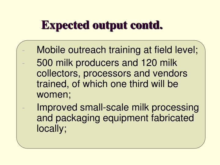Expected output contd.