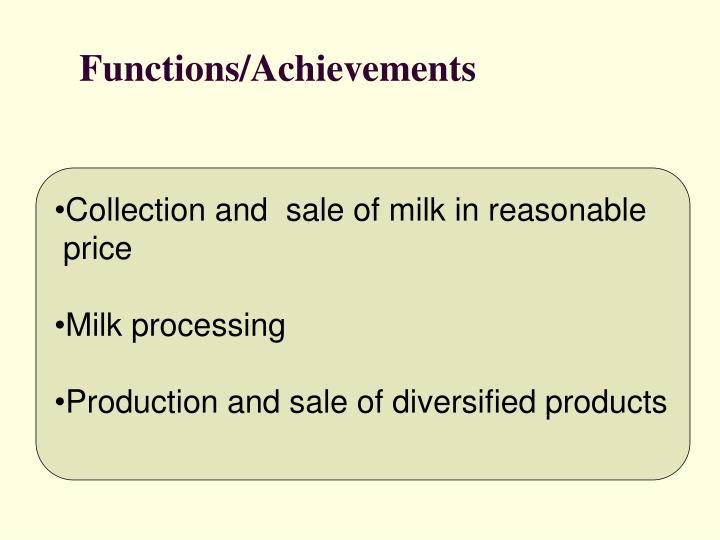 Functions/Achievements