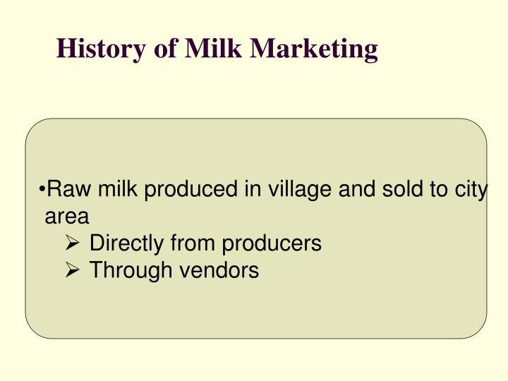 History of Milk Marketing