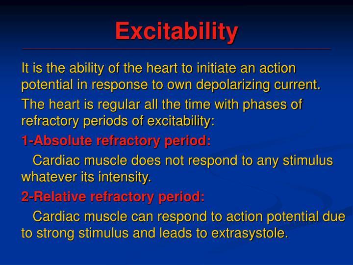 Excitability
