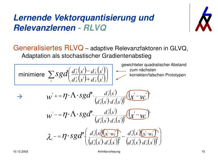 Generalisiertes RLVQ