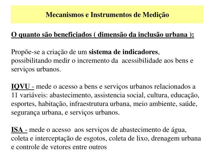 Mecanismos e Instrumentos de Medição