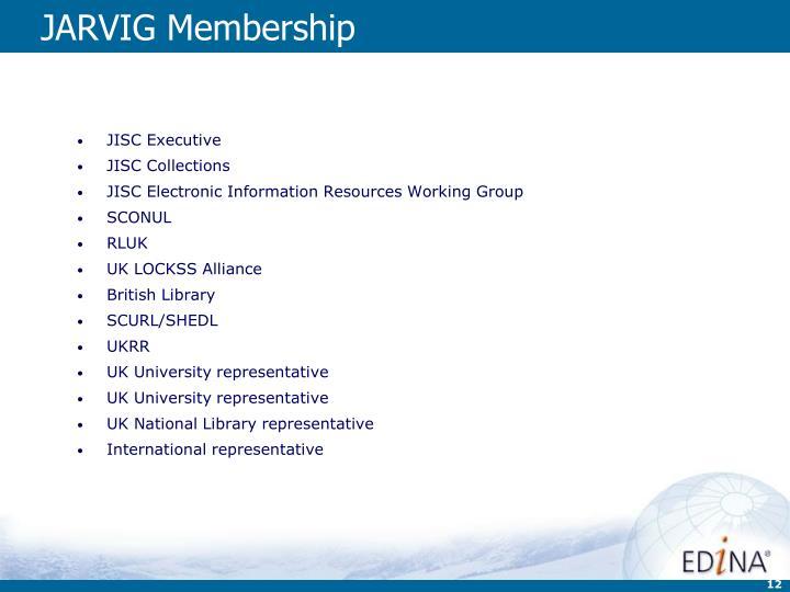 JARVIG Membership