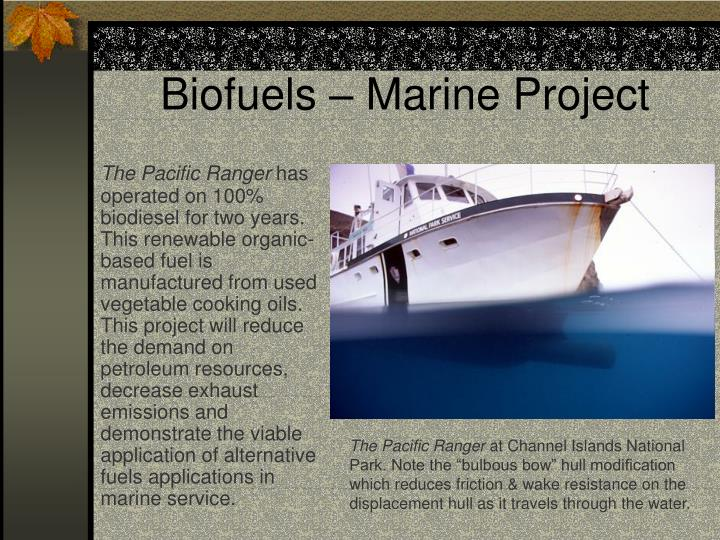 Biofuels – Marine Project