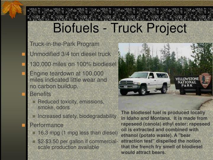 Biofuels - Truck Project