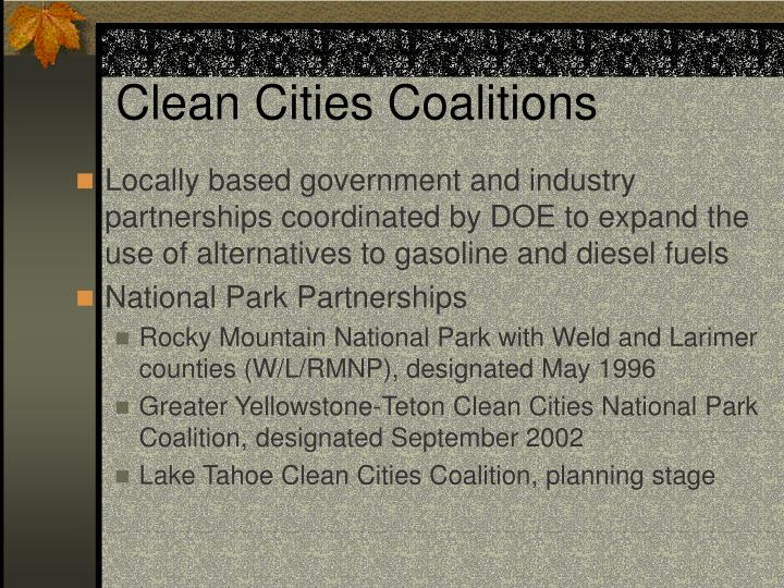 Clean Cities Coalitions