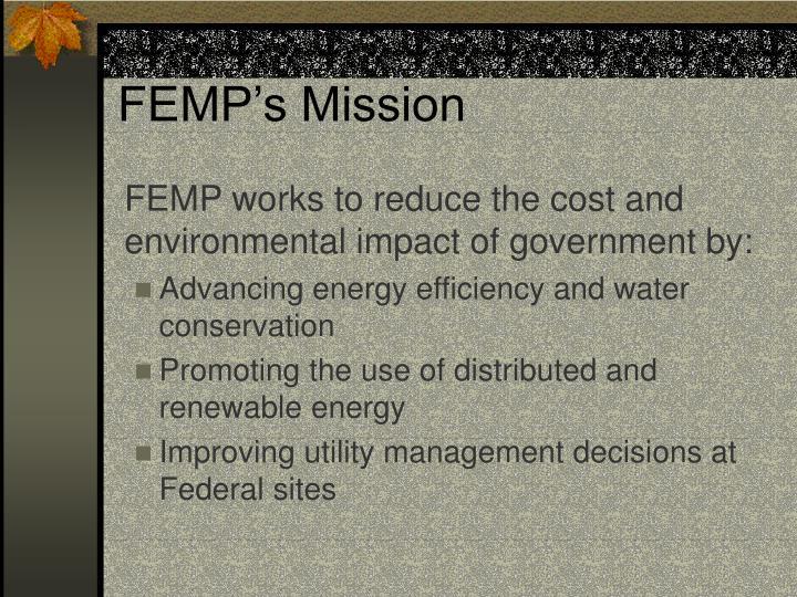 FEMP's Mission