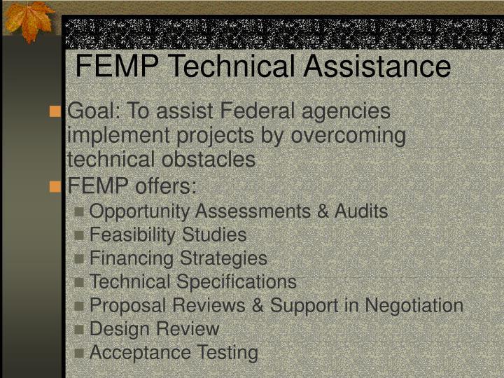 FEMP Technical Assistance