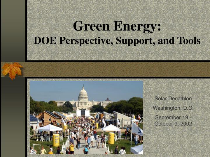 Green Energy: