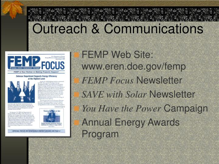 Outreach & Communications