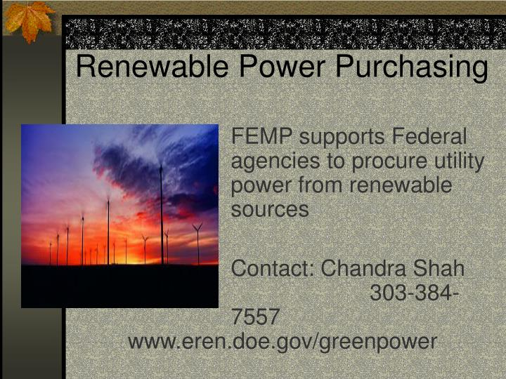 Renewable Power Purchasing