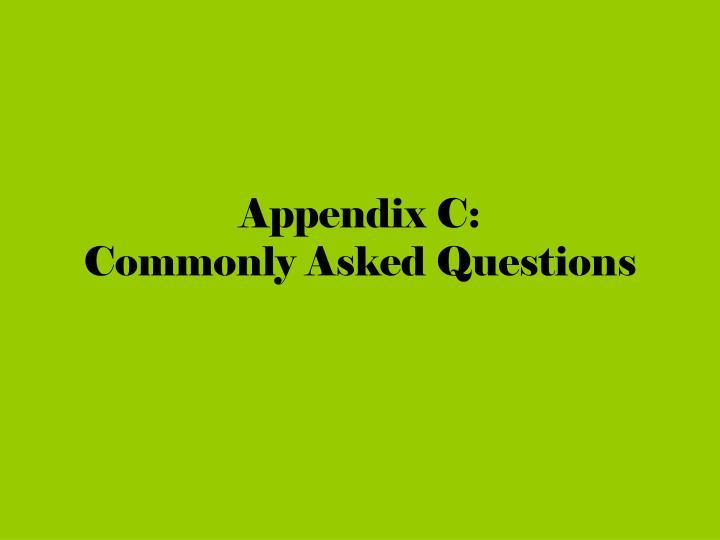 Appendix C: