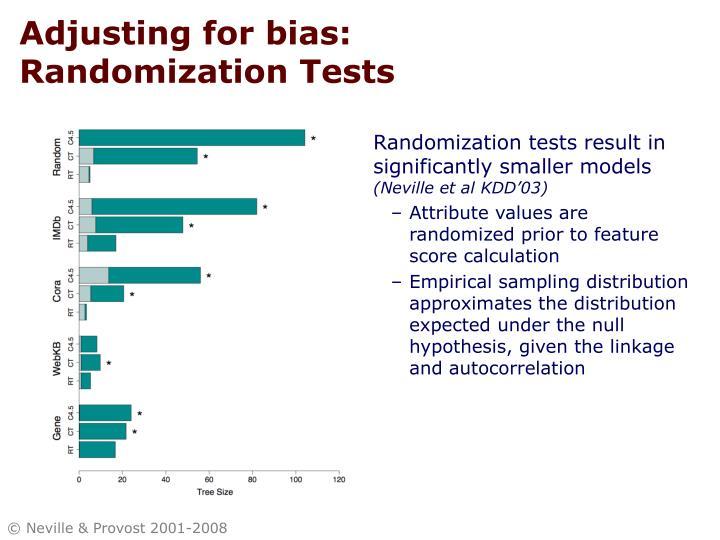 Adjusting for bias: