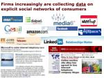 firms increasingly are collecting data on explicit social networks of consumers