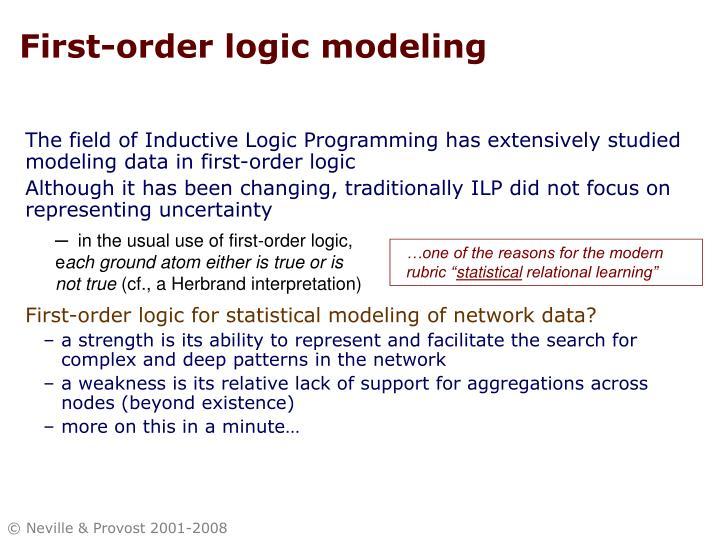 First-order logic modeling