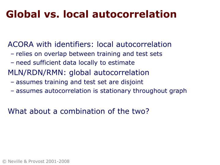Global vs. local autocorrelation