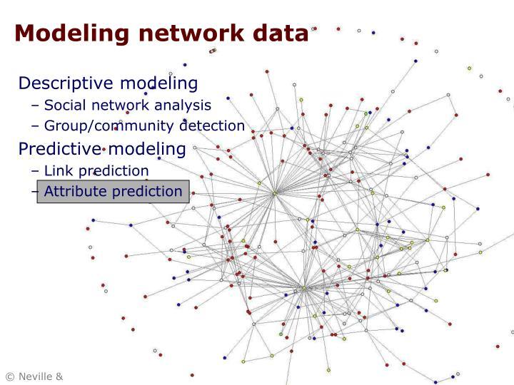 Modeling network data