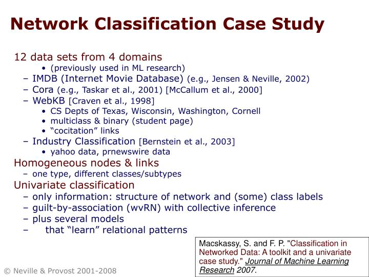 Network Classification Case Study