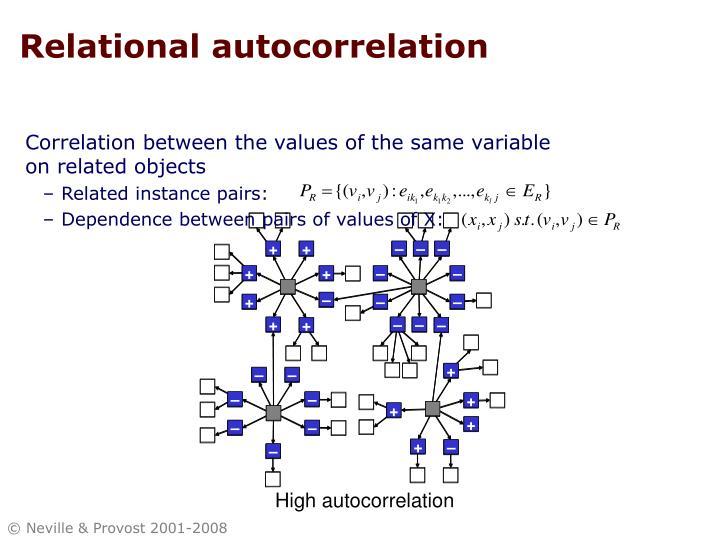 Relational autocorrelation