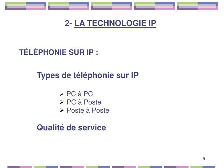 TÉLÉPHONIE SUR IP :