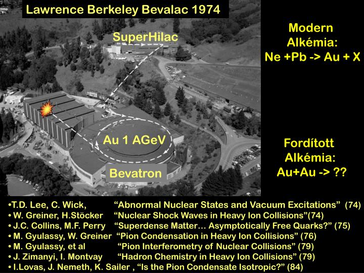 Lawrence Berkeley Bevalac 1974