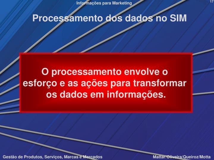 Processamento dos dados no SIM