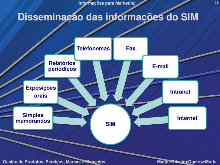 Disseminação das informações do SIM