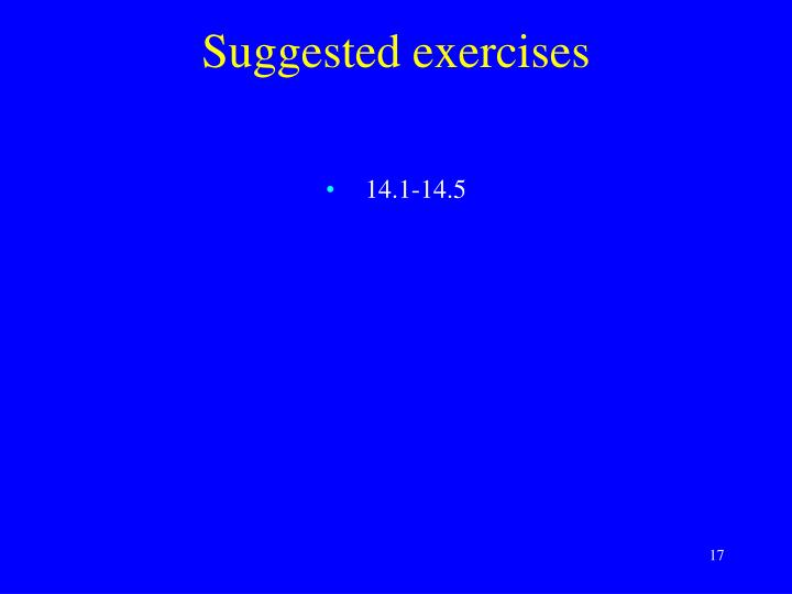 Suggested exercises