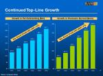 continued top line growth