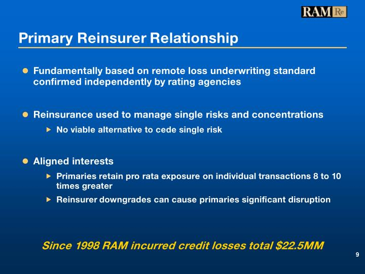 Primary Reinsurer Relationship