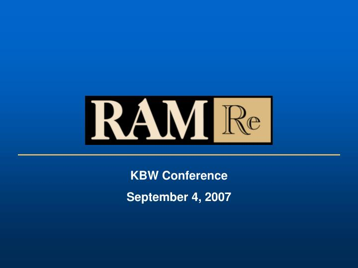 KBW Conference