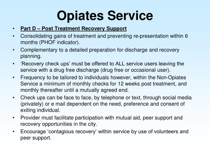 Opiates Service