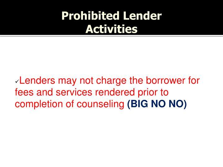 Prohibited Lender
