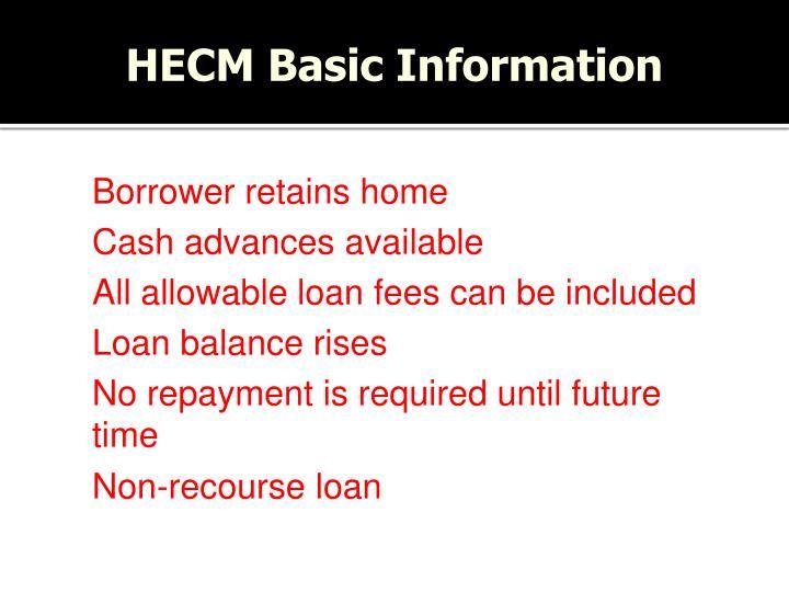 HECM Basic Information