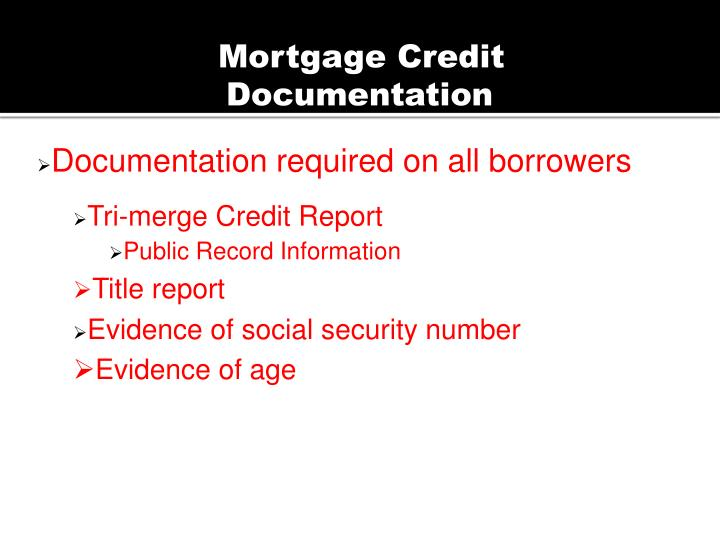 Mortgage Credit
